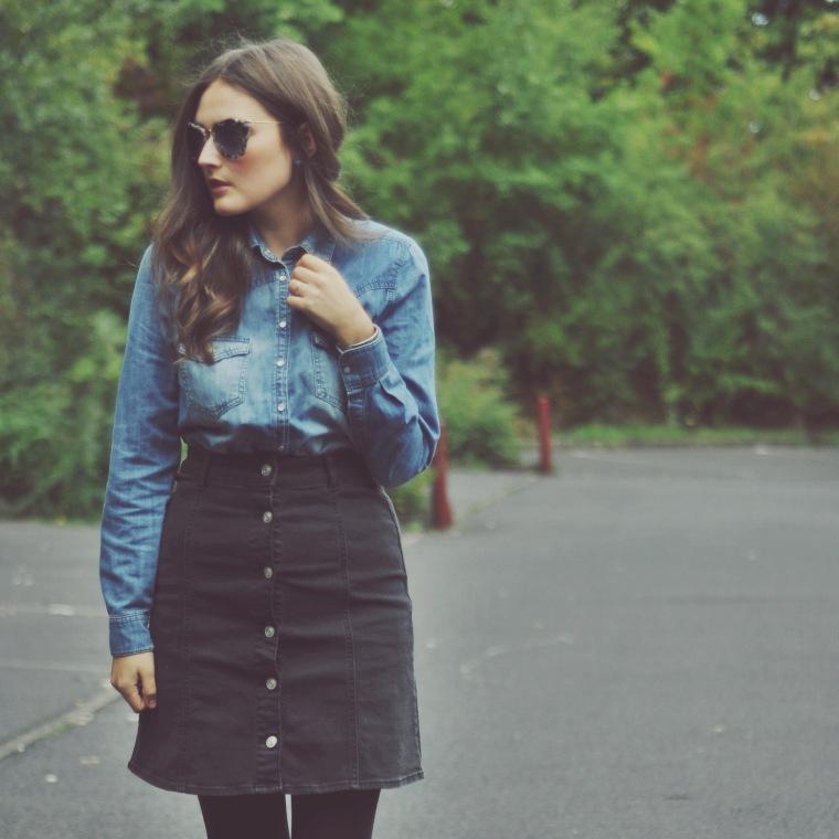 Button-down-skirt